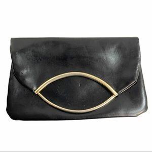 🇮🇹 Delilll Calfskin Black Clutch Handbag